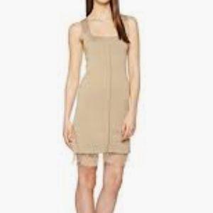 Valentino Beige Square Neck Sleeveless Dress